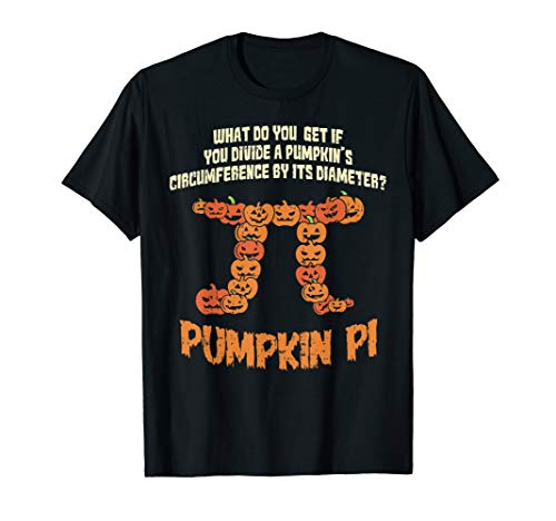 Pumpkin Pie Math Shirt Funny Halloween Circumference Pi Day