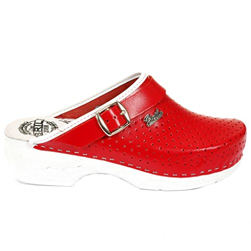 Sabots BRIL Chaussures Cuir B2 Mules Rosso Punto Rouge Dr Femme Dames en Chaussons wRO4Aq