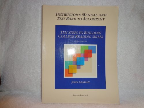 Ten Steps to Building College Reading Skills: Teacher's Manual and Test Bank