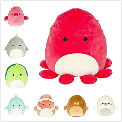"""Squishmallow Kellytoy 2020 Sea Life Animal Set of 8 Mini 5"""" Plush Dolls Collection Toy: Toys & Games"""