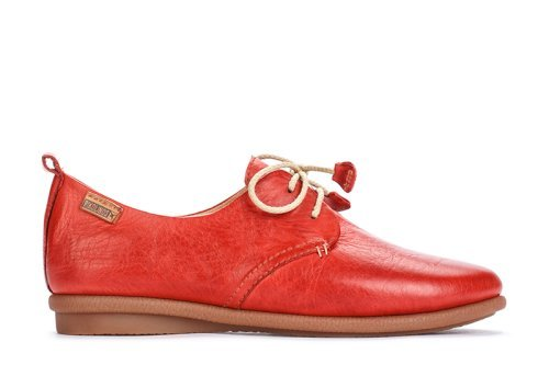 Pikolinos de mujer, zapato sport de cordones en piel,w9k-4623 brandy. CARMIN