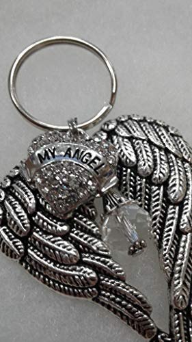 My Angel Memorial Keychain with Guardian Angel Wings