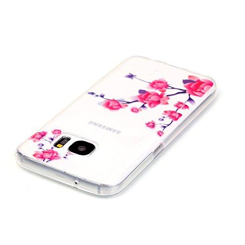 Samsung Galaxy S7 Funda, Bumper Case,Samsung Galaxy S7 Funda Silicona de Gel TPU Cover, TPU Ultra Thin Elegent Soft Transparente Defensor Flexible Carcasa ,para Samsung Galaxy S7 + Stylus image-3