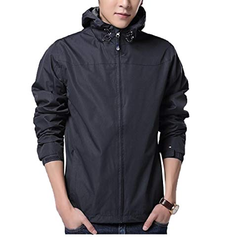 Solid Pizex Coat Loose Size Men Outwear Black Fit Plus Windproof Trench Sankt w7q0n