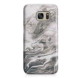 Samsung S7 Case Granite Marble Print Grey Sleek Design Durable Samsung S7 Cover Wrap Around