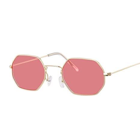 Yangjing-hl Gafas de Sol Rojas Mujer Diseñador de la Marca ...