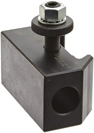 "Dorian Tool QITPN-5 Chromium Molybdenum Alloy Steel Quick Change Morse Taper Toolholder for QITP25N Quadra Indexing Quick Change Tool Post, MT2, 1-1/2"" Height"