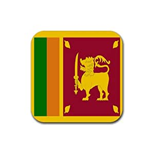 Amazon.com: Sri Lanka Flag Square Coasters (Set of 4