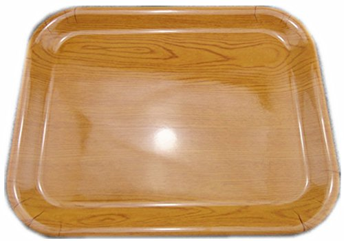 Moyishi Multifunction Rectangular Plastic Serving Tray Wood Grain Color (L(38.5cmx29cm))