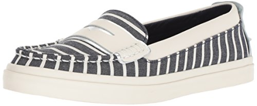(Cole Haan Women's Pinch Weekender LX Loafer Flat, Nautical Stripe Canvas/Ivory Leather, 8 B US)
