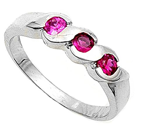 Ruby Pinky Ring - 9