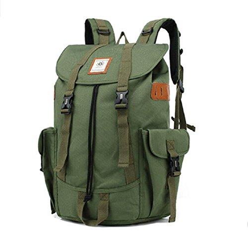 Z&N Backpack Multifuncional al aire libre senderismo viajes montañismo mochila de gran capacidad de la moda bolsos ocasionales fuentes de la campaña al aire libre portátilesblack23L Army Green