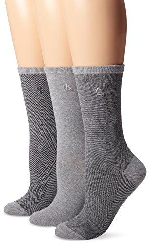 Ralph Lauren Tweed Cotton Trouser Socks - 3 Pair Pack (34004) O/S/Flannel heather