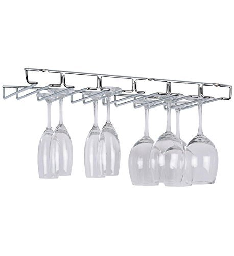 - Organize It All Large Chrome Stemware Holder