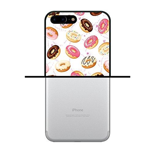 iPhone 8 Plus Hülle, WoowCase Handyhülle Silikon für [ iPhone 8 Plus ] Donuts Handytasche Handy Cover Case Schutzhülle Flexible TPU - Schwarz