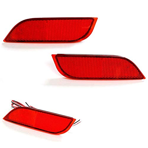 Function as Rear Fog iJDMTOY Smoked Lens 26-SMD LED Bumper Reflector Lights for Subaru 2008-14 WRX//STI 08-up Impreza Tail//Brake Lamps 13-up XV Crosstrek