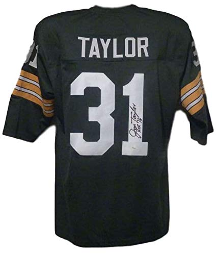 Jim Taylor Autographed/Signed Green Bay Packers XL Green Jersey HOF JSA ()