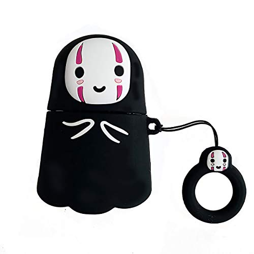 Studio Ghibli Halloween (Airpods Silicone Case Cover, 3D Cute Halloween No Face Man AirPods Case Protective Soft Silicone Cover and Skin for Apple Airpods 1st/2nd Charging Case [Best Gift for Girls or)