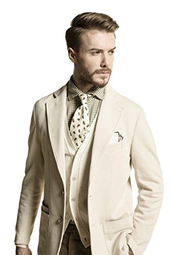 La Catenella Men's Suits Stylish Casual Tweed Beige Color Blazer Jacket