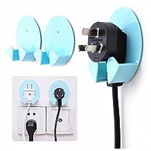 GOOTRADES Power Plug Socket Hook Holder Home Wall Rack Hanger (pack of 2)