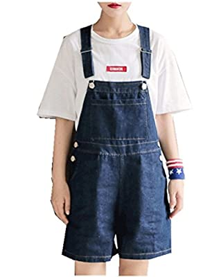 Women's Summer Relaxed Straight Denim Shorts Jeans Overalls Plus Size