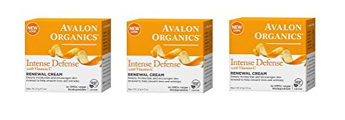 Shave Intensive Treatment - Avalon Organics Intense Defense with Vitamin C Renewal Cream, 2 oz (Set of 3)