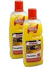 SONAX 2X 03133410 Was- & Wax lakverzorging conservering 1L