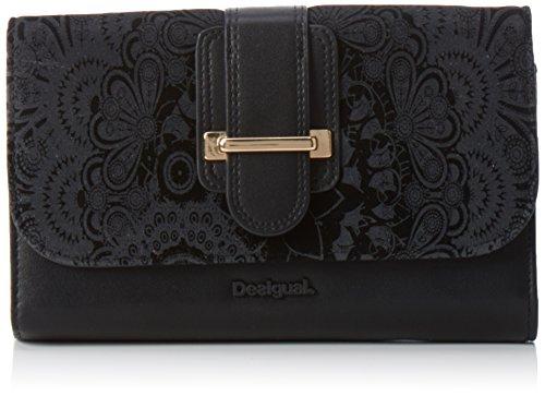 Desigual Lengueta Velvet Wallet, Black, One Size