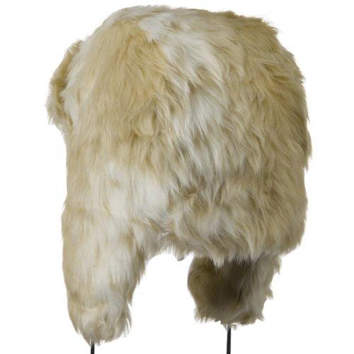 Woman's Faux Fur Trooper Hat - White Mix OSFM