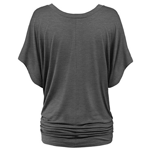 Et Shirts Shirt Fille Manches Cou Tief Courtes Manche Tshirts Bouffant Souris Classique Uni Grau Femme Elgante Mode Branch Casual Plier Casual Chauve V Tee Shirt wYxBqIUPXX