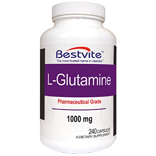 L-Glutamine 1000mg Free Form (240 Capsules)