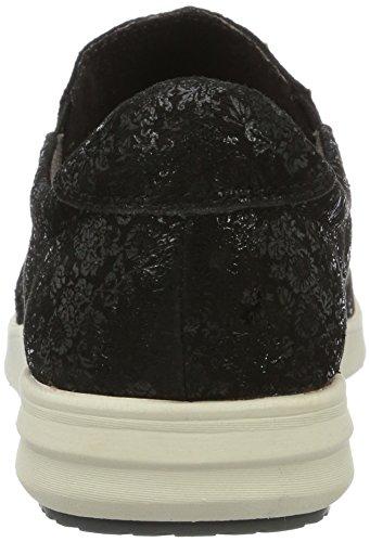 Caprice Damen 24600 Slipper Schwarz (zwarte Bloem)