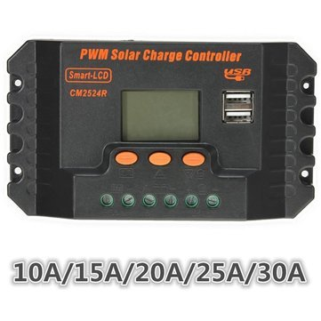 10/15/20/25/30A 12V/24V PWM Solar Panel Regulator Charge Controller - Electrical Gadgets & Tools Solar Panel Controller - (15A) - 1x Solar Charge Controller by Unknown