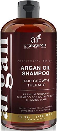Art Naturals Organic Argan Oil Hair Loss Shampoo for Hair Regrowth 16 Oz -