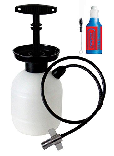 Draftec DTPCK Deluxe Beer Line Cleaning Kit Hand Pump Pressurized Keg with 32 oz. (Pressurized Kegs)