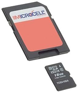 Microcell 16GB microSDHC memory card/16GB tarjeta micro SD para LG Optimus L3E400/LG PRADA 3.0