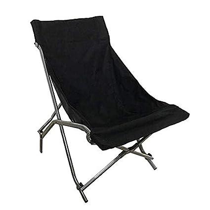 GJLR La Silla Plegable Que acampa portátil Resistente Negra ...