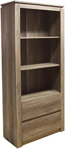 Right Deals UK Canyon 2 Drawer Bookshelf Bookcase