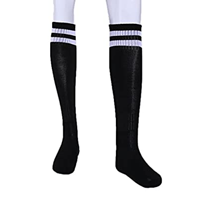 ULKEMEStriped Towel Running Football Breathable Non Slip Long Legged Soccer Socks by ULKEME
