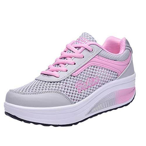 (OrchidAmor 2019 Fashion Women's Mesh Breathable Sneakers Casual Shoes Student Mesh Breathable Running Shoes Pink)
