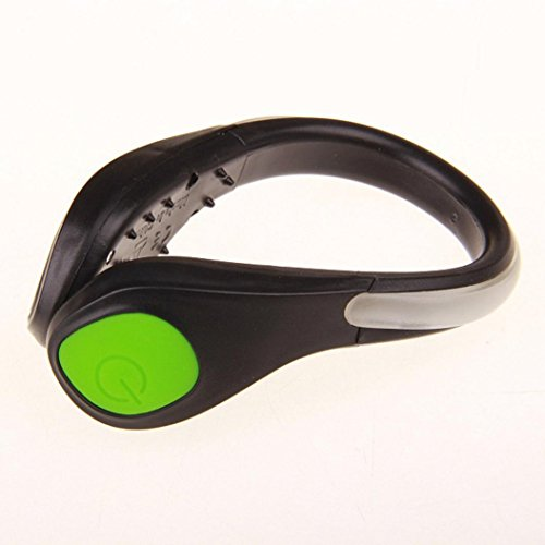 Creative LED Luminous Shoe Clip Light Night Safety Warning LED Flash Light for Running by CSSD (Green)