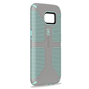 Speck Products Samsung Galaxy S7 Edge Case, CandyShell Grip Case (Sand Grey/Aloe Green), Military-Grade Protective Case