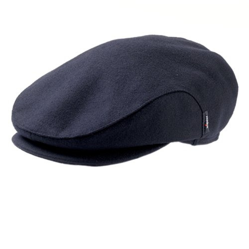 Classic Wool Ivy Cap (CHRISTOR (Carl) Classic Wool Ivy Cap with Earflaps by Wigens (58, Navy))
