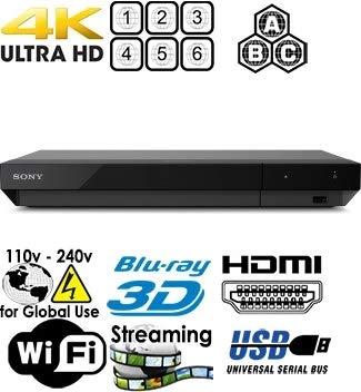 Sony X700 - 2K/4K UHD - 2D/3D - Wi-Fi - SA-CD - Multi System Region Free Blu Ray Disc DVD Player - PAL/NTSC - USB - 100-240V 50/60Hz Cames with 6 Feet Multi-System