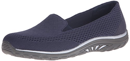 Skechers Women's Reggae Fest Willows Flat,8 M US,Navy ()