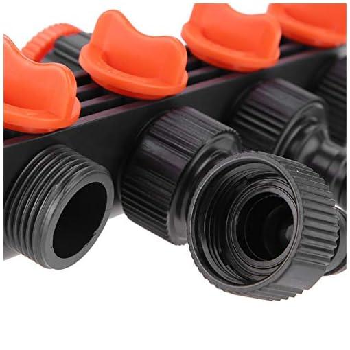 Shogpon Distributore Rubinetto a 4 Vie, Tubo da Giardino Connettore Adattatore Prese Rubinetto Regolabile per Irrigazione Tubi da Giardino #2