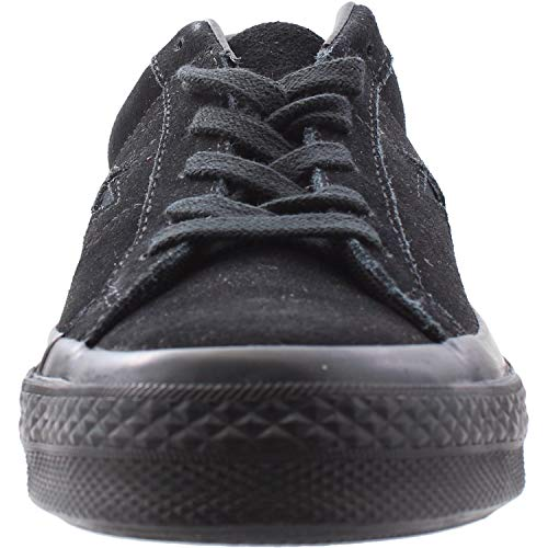 Converse Youth Suede Mono Black Negro Trainers One Star Ox rwq1rY