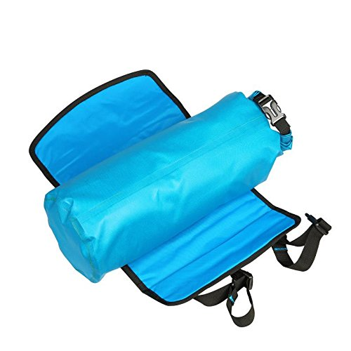 BicycleStore Bicycle Handlebar Bags Waterproof MTB Front Tube Basket Pannier Accessories Large Capacity Detachable Bike Bags 3 7L Blue