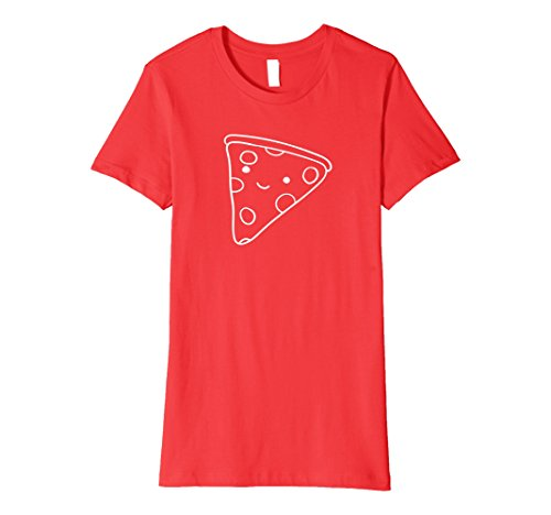 Womens Pizza Friend T-Shirt Medium Red