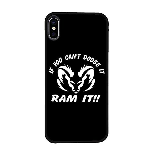 quality design 315ed 82d82 Amazon.com: Case Compatible iPhone Xs/X, If You Can't Dodge it Ram ...